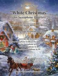 White Christmas (for Saxophone Quartet SATB or AATB)