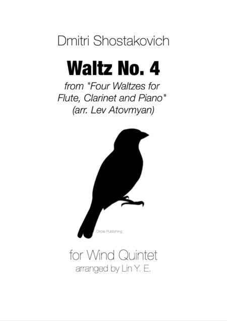 Shostakovich Waltz No. 4 from Four Waltzes for Wind Quintet