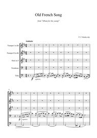 Tchaikovsky old french song, op. 39 no. 16 violin sheet.