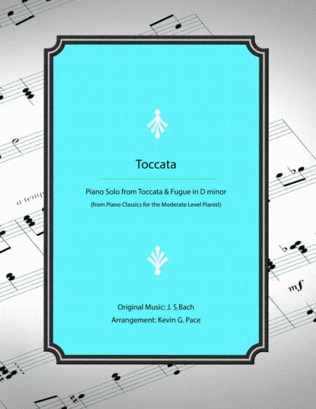 Toccata (from Toccata & Fugue in Dm by JS Bach) - Moderate level piano solo