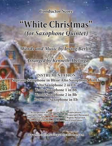 White Christmas (for Saxophone Quintet SATTB or AATTB)