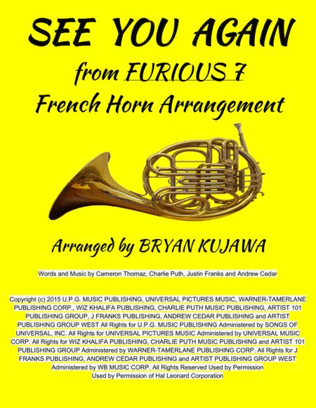 See You Again from FURIOUS 7 - French Horn Solo