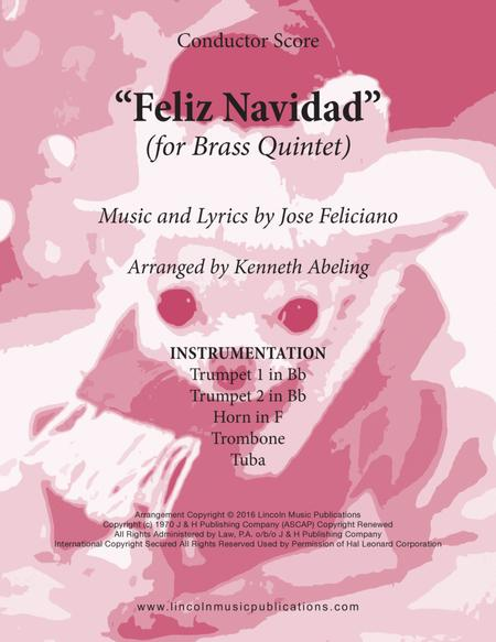 Feliz Navidad (for Brass Quintet)