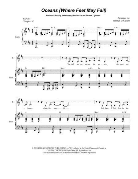 Oceans (Where Feet May Fail) (Duet for Soprano and Tenor Solo)