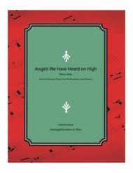 Angels We Have Heard on High - moderate level piano solo