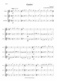 Gaudete for flute trio