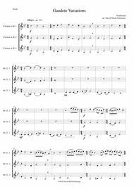 Gaudete Variations for clarinet trio
