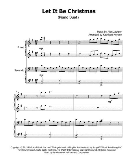 Alan Jackson Let It Be Christmas.Download Let It Be Christmas Sheet Music By Alan Jackson