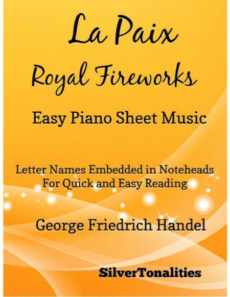 La Paix Royal Fireworks Easy Piano Sheet Music