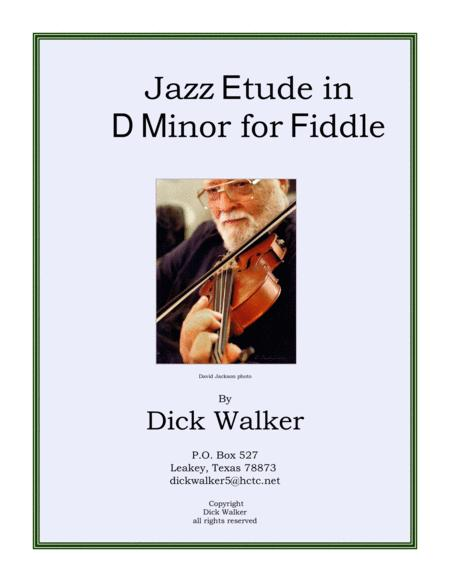 Jazz etude in d minor for fiddle