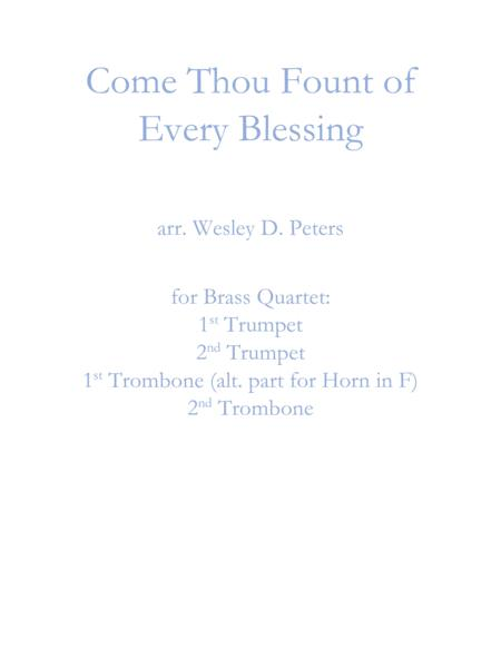 Come Thou Fount of Every Blessing (Brass Quartet)