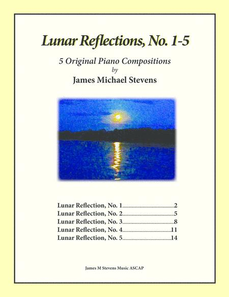 Lunar Reflections, No. 1-5 Piano Book