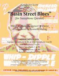Basin Street Blues (for Saxophone Quintet)