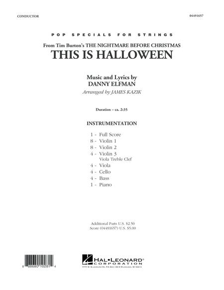 This Is Halloween - Conductor Score (Full Score)