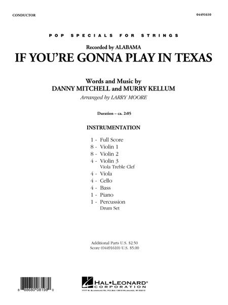 If You're Gonna Play in Texas (You Gotta Have a Fiddle in the Band) - Conductor Score (Full Score)