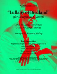 Lullaby Of Birdland (for Saxophone Quintet SATTB or AATTB)