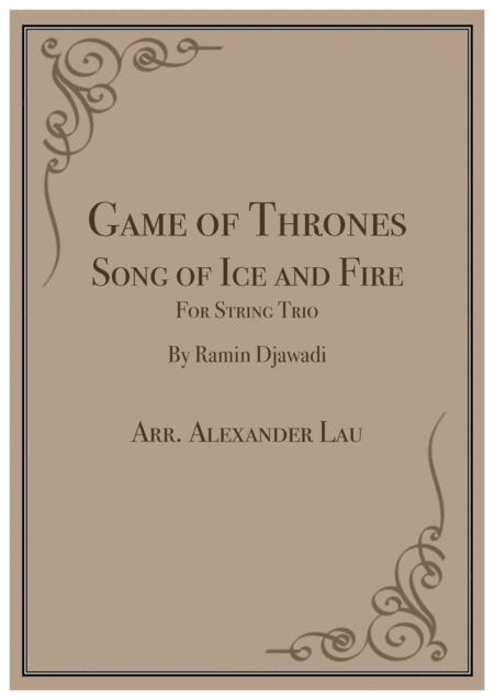 Game Of Thrones: Song of Ice and Fire for String Trio