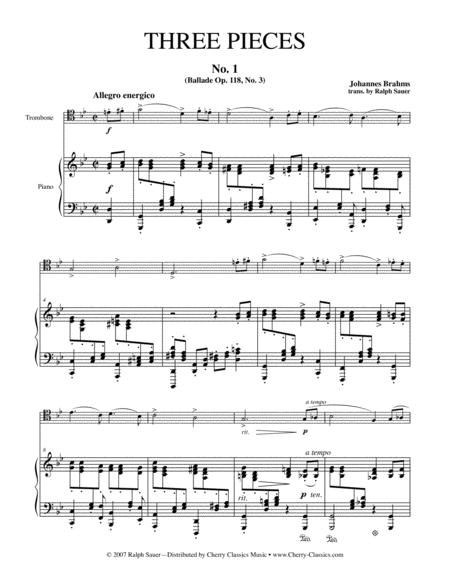 Three Pieces for Tenor Trombone and Piano
