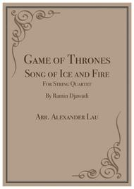 Game Of Thrones Song of Ice and Fire for String Quartet