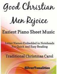 Good Christian Men Rejoice Easiest Piano Sheet  Music