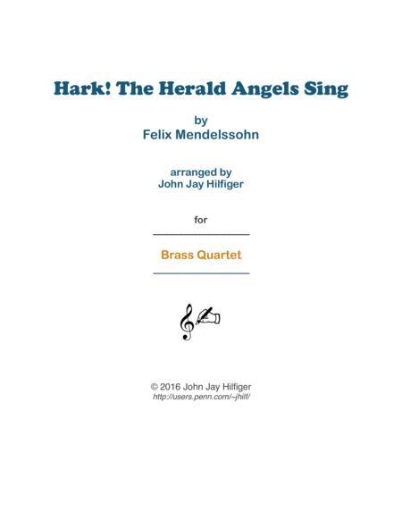 Hark! The Herald Angels Sing for Brass Quartet