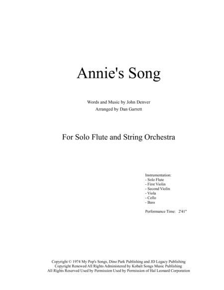 Annie's Song - Solo Flute and String Orchestra