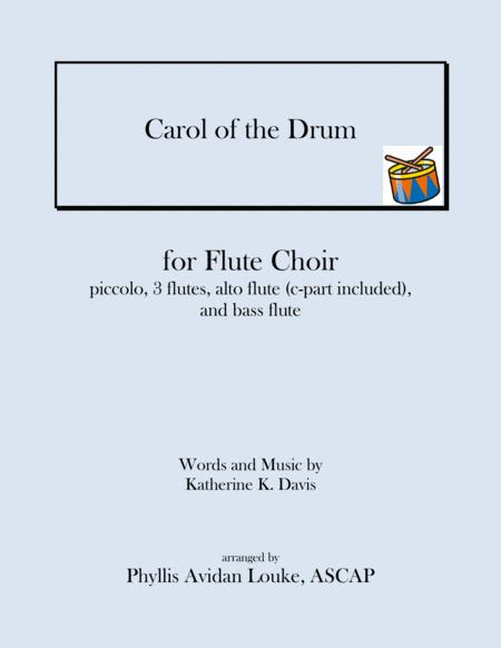 Carol of the Drum (aka Little Drummer Boy) for Flute Choir