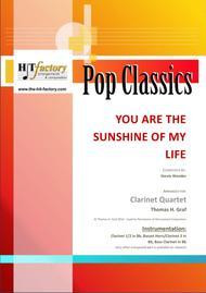 You are the sunshine of my life - Stevie Wonder Classic - Clarinet Quartet