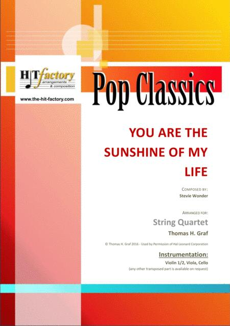 You are the sunshine of my life - Stevie Wonder Classic - String Quartet