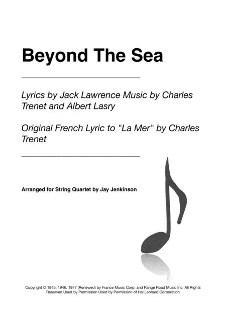 Beyond The Sea for String Quartet