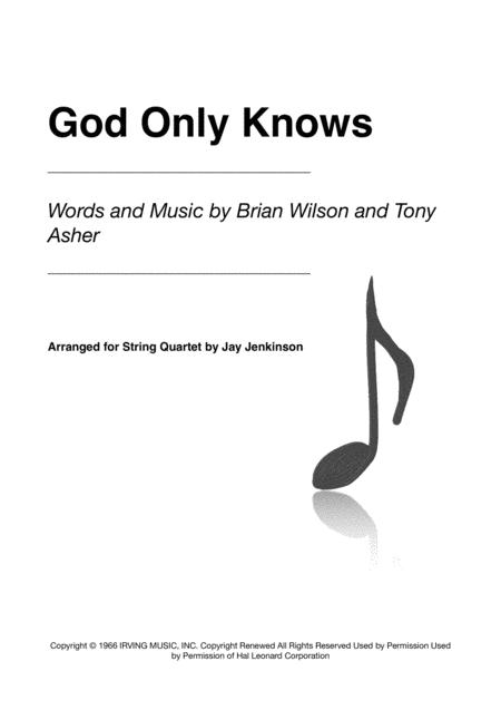 God Only Knows for String Quartet