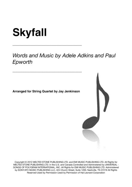 Skyfall for String Quartet