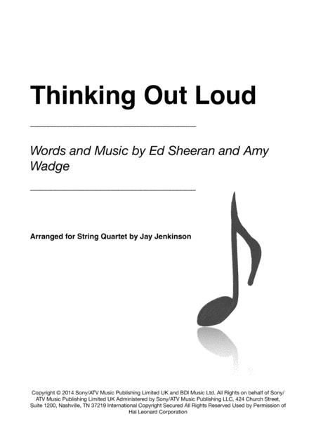 Thinking Out Loud for String Quartet