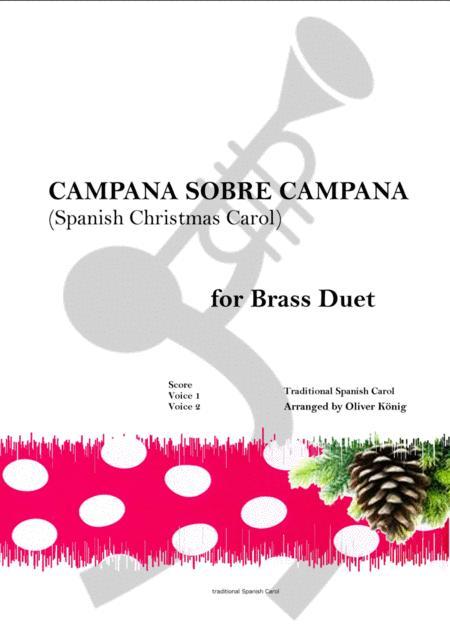 Campana Sobre Campana, Spanish Christmas Carol-for Brass Duet