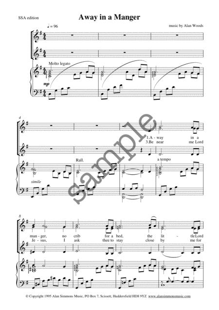 Away In A Manger Sheet Music By Alan Woods Sheet Music Plus