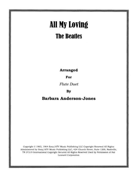 All My Loving (Flute Duet)