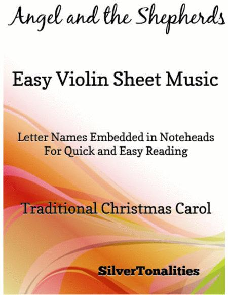 Angel and the Shepherds Easy Violin Sheet Music