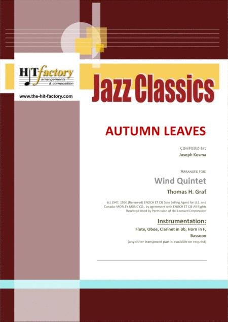 Autumn Leaves - Jazz Classic - Les feuilles mortes - Wind Quintet