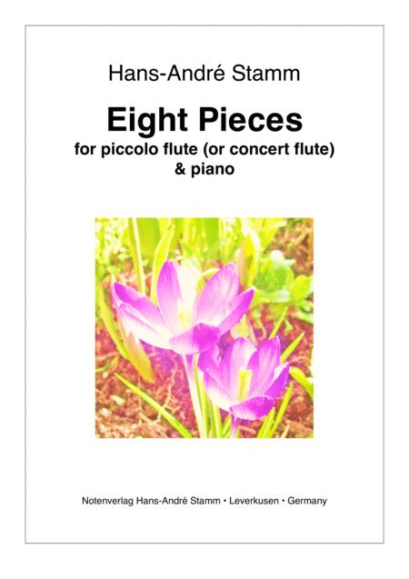Eight pieces for flute and piano