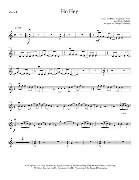 Download Ho Hey - String Quartet Sheet Music By The Lumineers ...