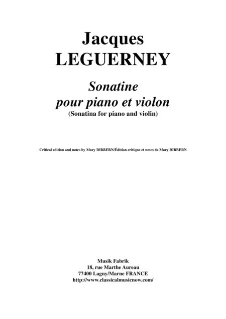 Jacques Leguerney: Sonatine for piano and violin