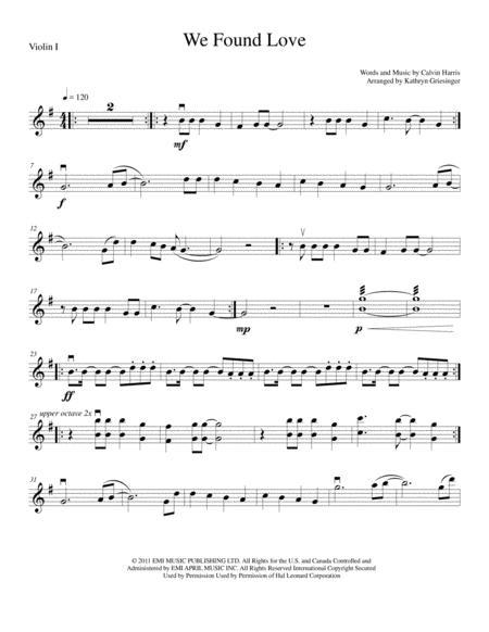 We Found Love - String Quartet