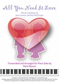 All You Need Is Love - piano solo