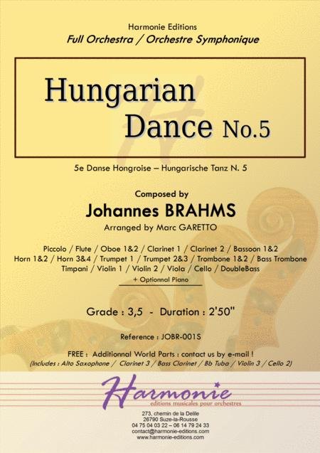 Hungarian Dance No. 5 - J. BRAHMS - arranged for Full Orchestra by Marc Garetto