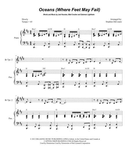 Oceans (Where Feet May Fail) (Duet for Bb-Trumpet)
