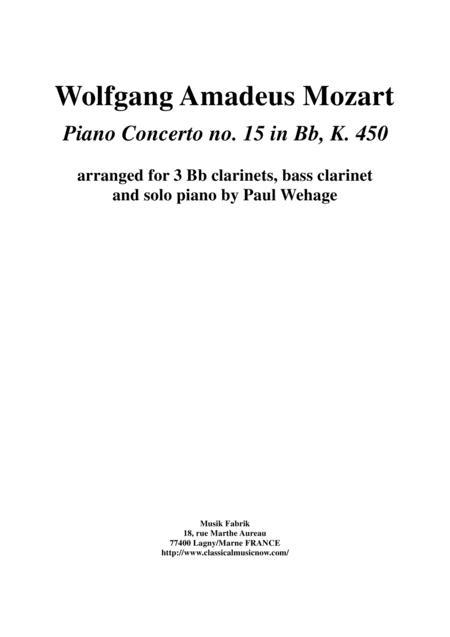 Download Wolfgang Amadeus Mozart: Piano Concerto No  15 In