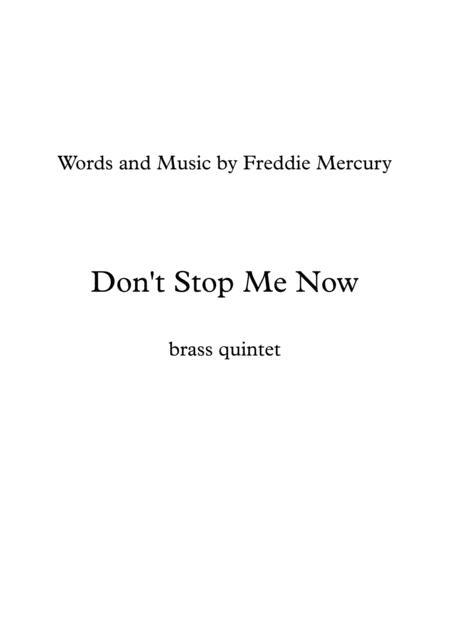 Queen: Don't Stop Me Now - brass quintet