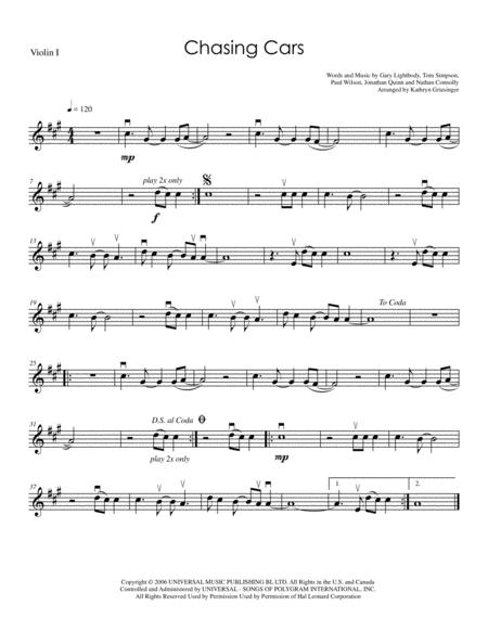 Download Chasing Cars - String Quartet Sheet Music By Snow Patrol ...