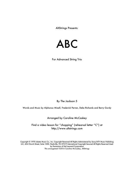 ABC - String Trio (Violin, Viola and Cello)