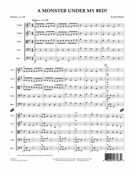A Monster Under My Bed! - Conductor Score (Full Score)